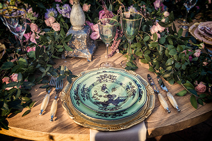 Porcelaine rococo pour un mariage romantique distingué et ultra romantique